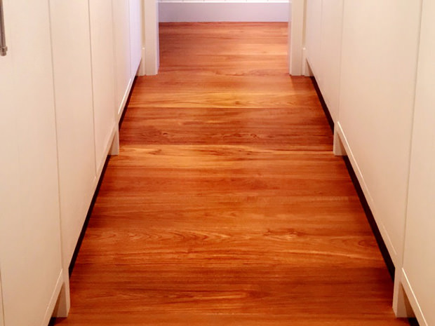 Installing Hardwood Flooring in Maui home